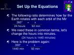 set up the equations16