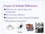 causes of attitude differences
