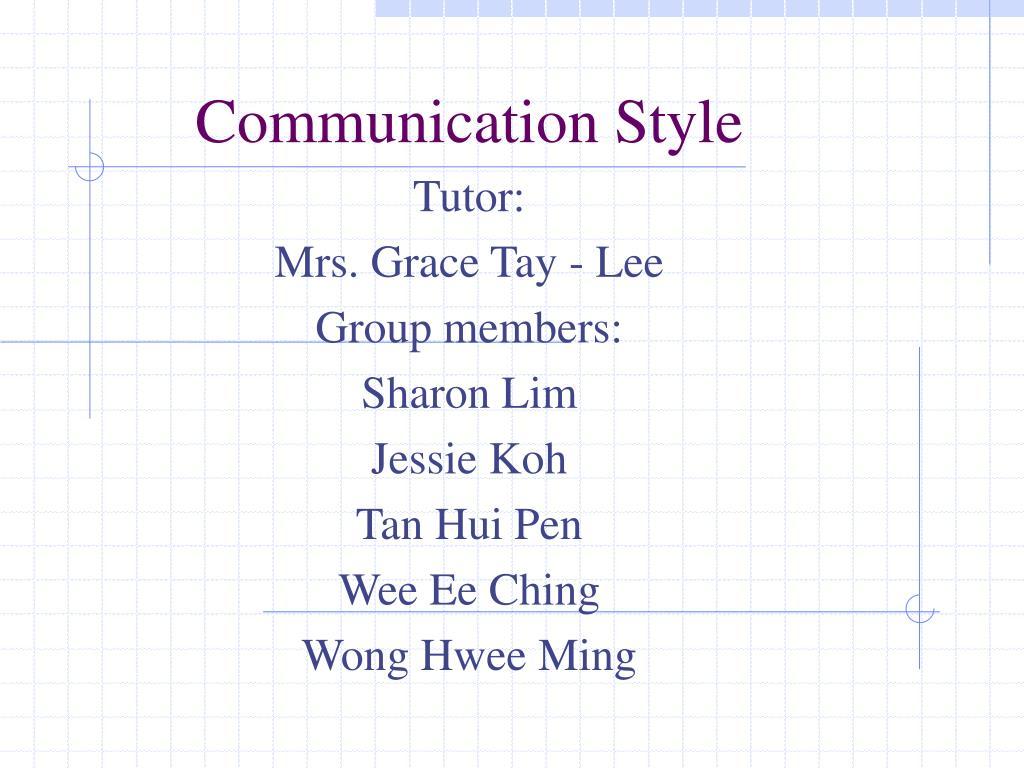 communication style l.