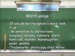 word usage22