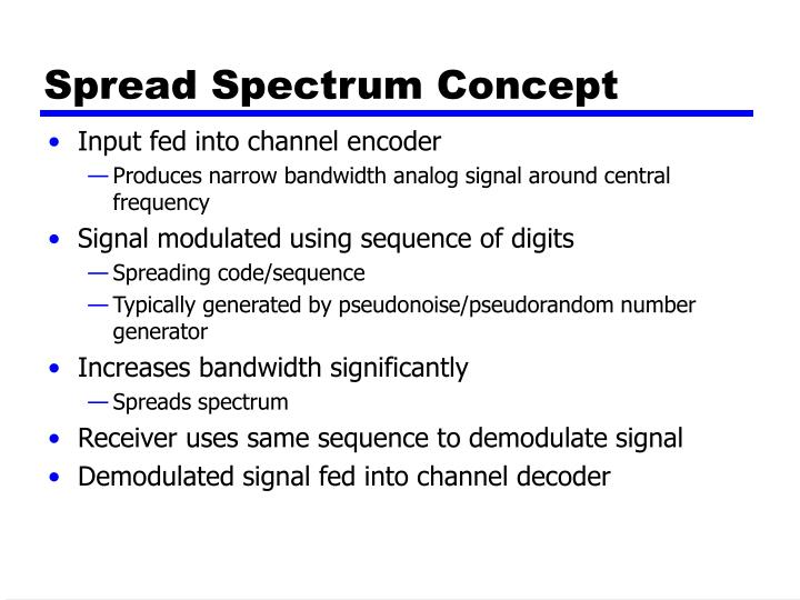 Spread spectrum concept