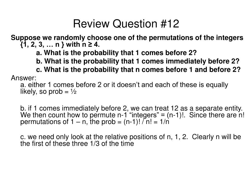 Review Question #12
