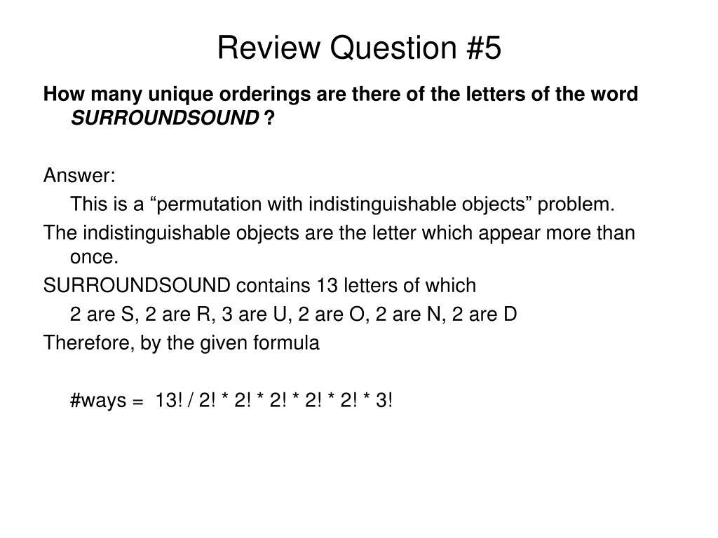 Review Question #5