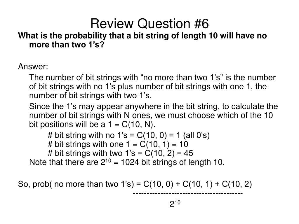 Review Question #6