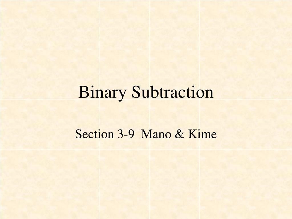 Ppt Binary Subtraction Powerpoint Presentation Id1370888 Bit Subtractor N