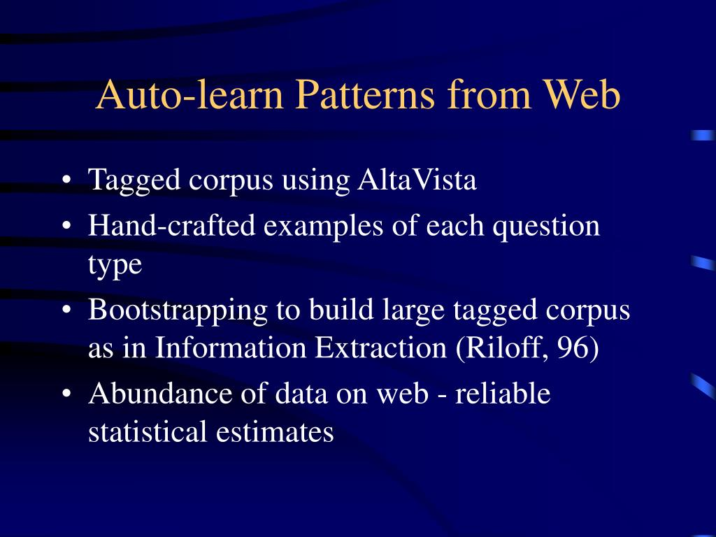 Auto-learn Patterns from Web
