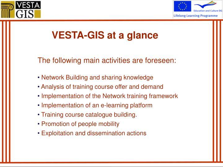 VESTA-GIS at a glance