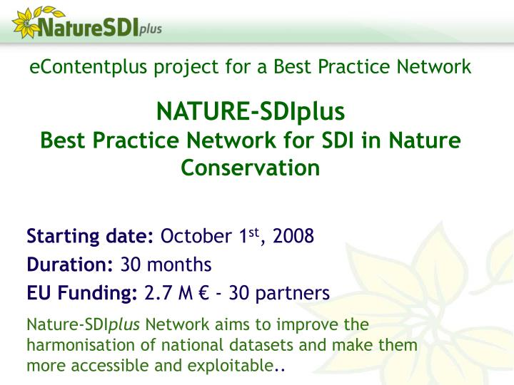 EContentplus project for a Best Practice Network