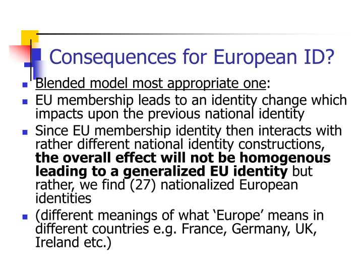 Consequences for European ID?