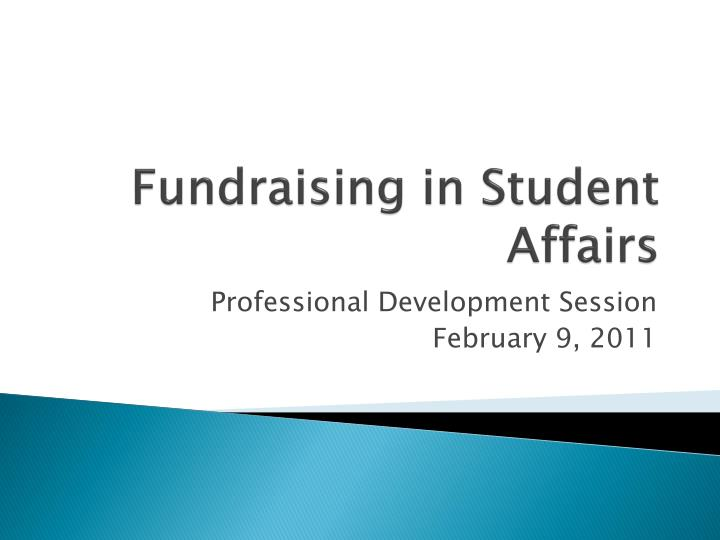 fundraising in student affairs n.