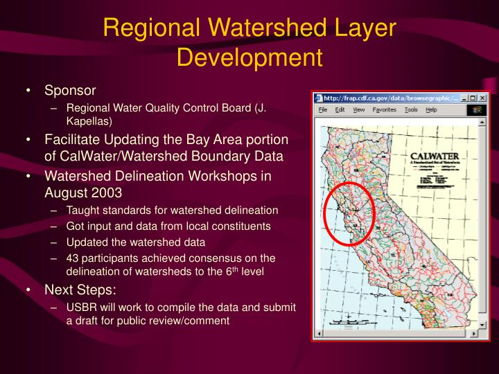 Regional Watershed Layer Development