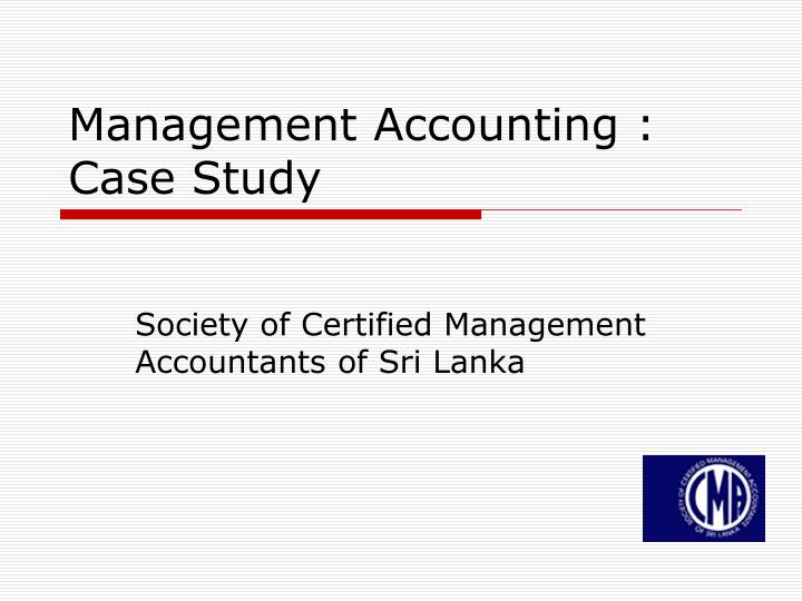 management accounting case study n.