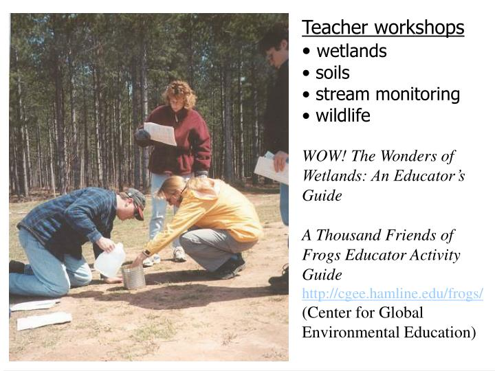Teacher workshops