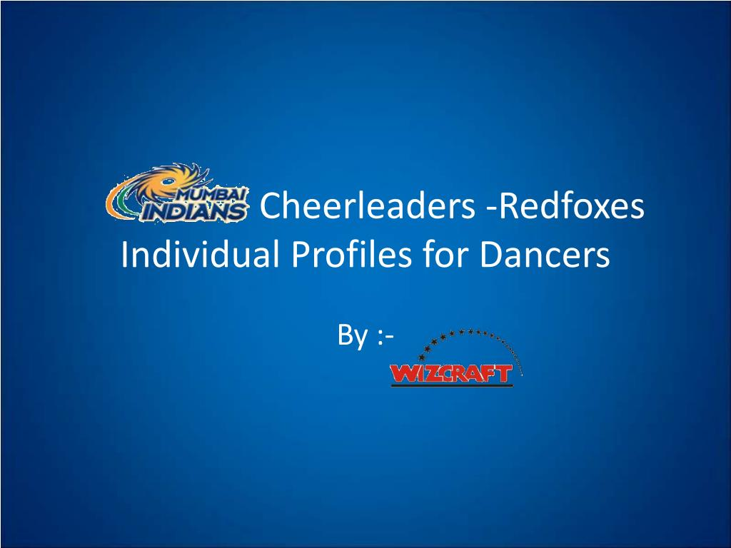 cheerleaders redfoxes individual profiles for dancers l.