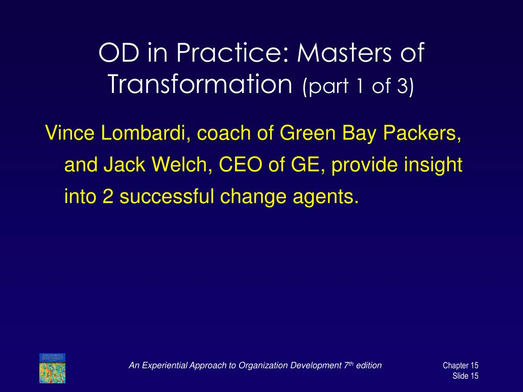 OD in Practice: Masters of Transformation