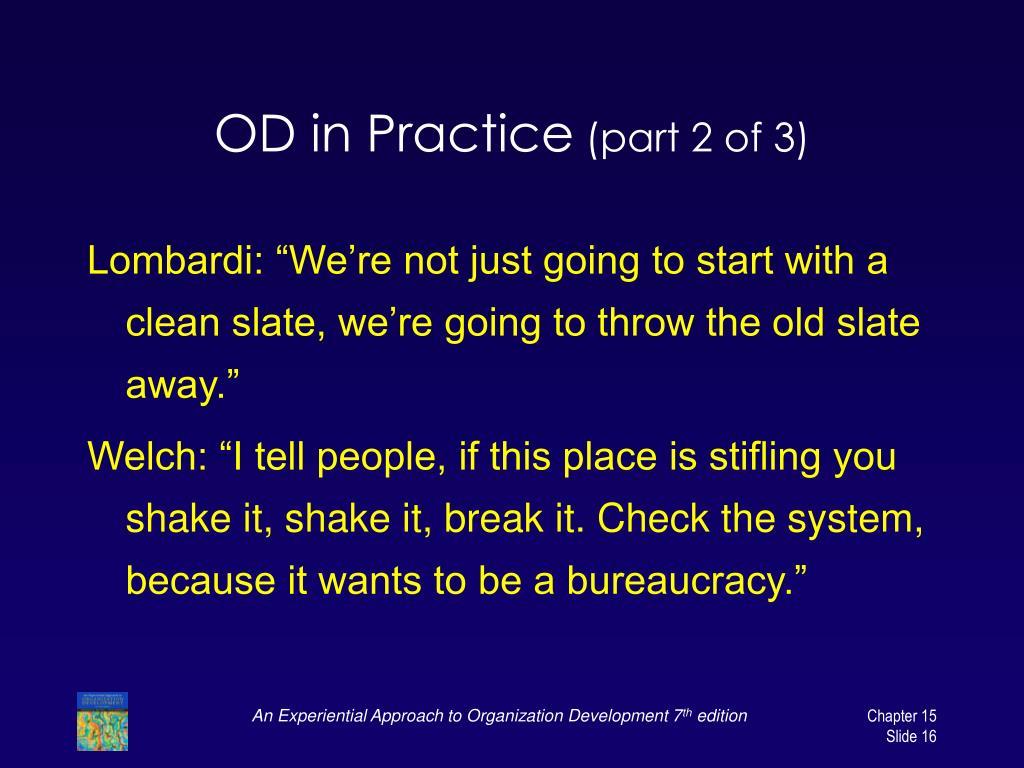 OD in Practice
