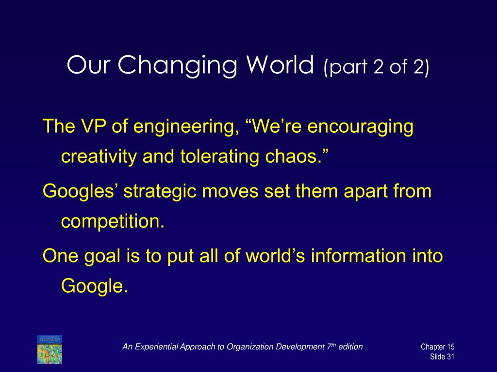 Our Changing World