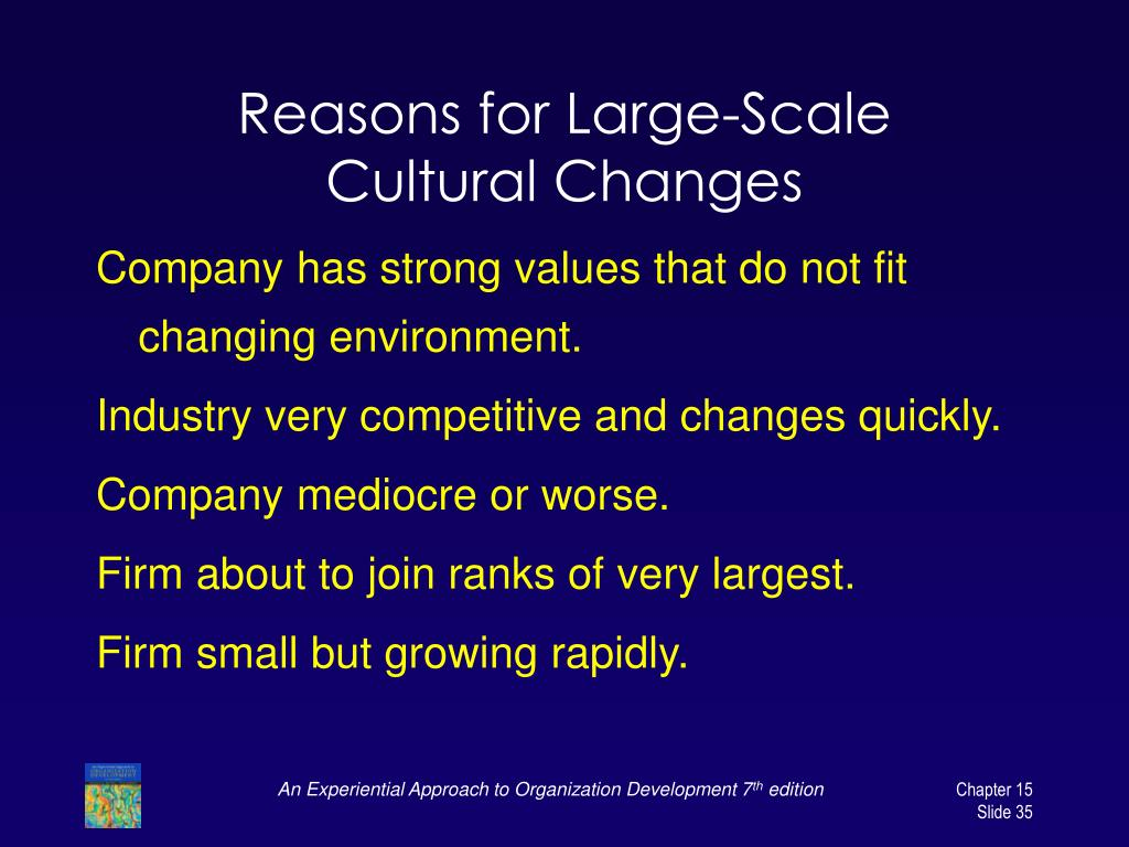 Reasons for Large-Scale