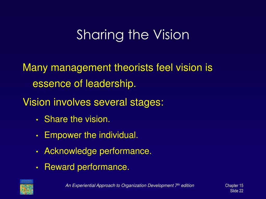 Sharing the Vision