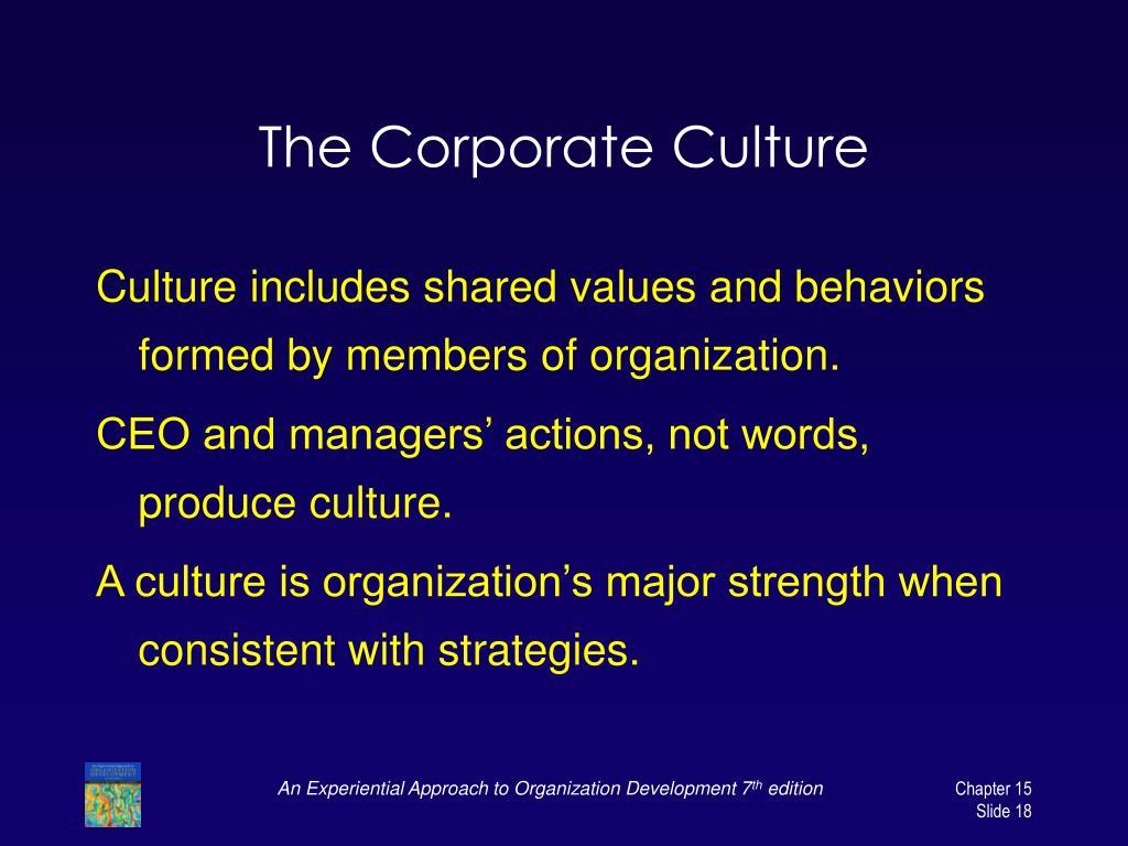 The Corporate Culture