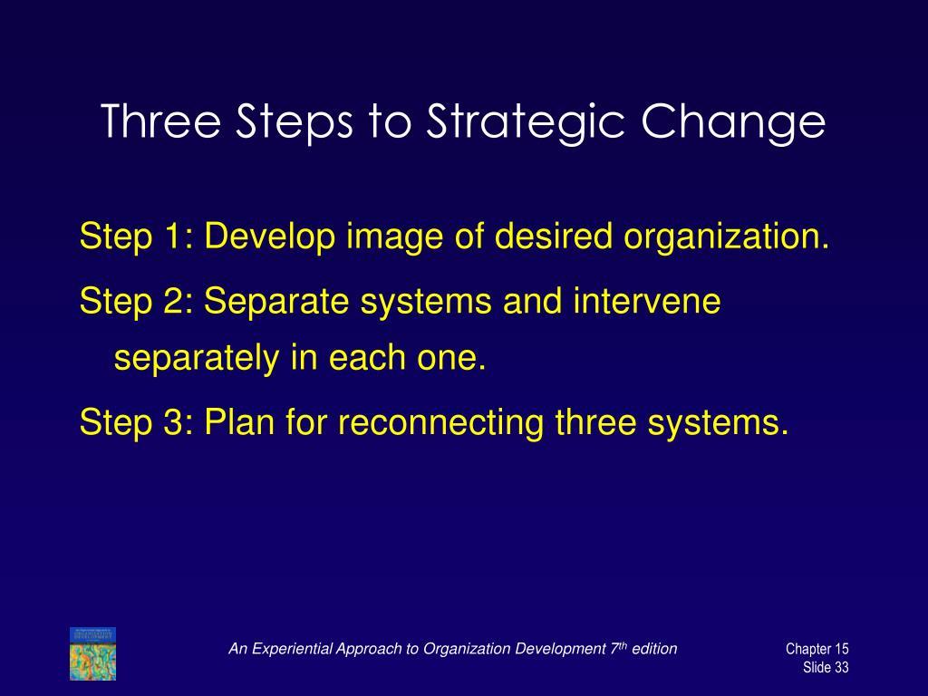 Three Steps to Strategic Change