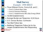 mail survey example 1998 mecs