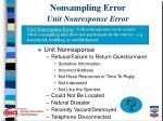 nonsampling error unit nonresponse error