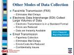 other modes of data collection14