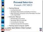 personal interview example 1997 recs8