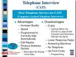 telephone interview cati