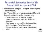 potential scenarios for ucsd pascal still active in 2004