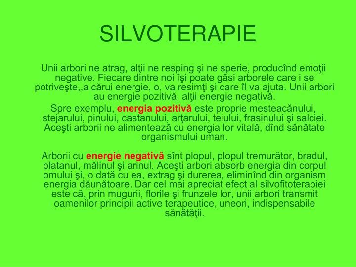 SILVOTERAPIE