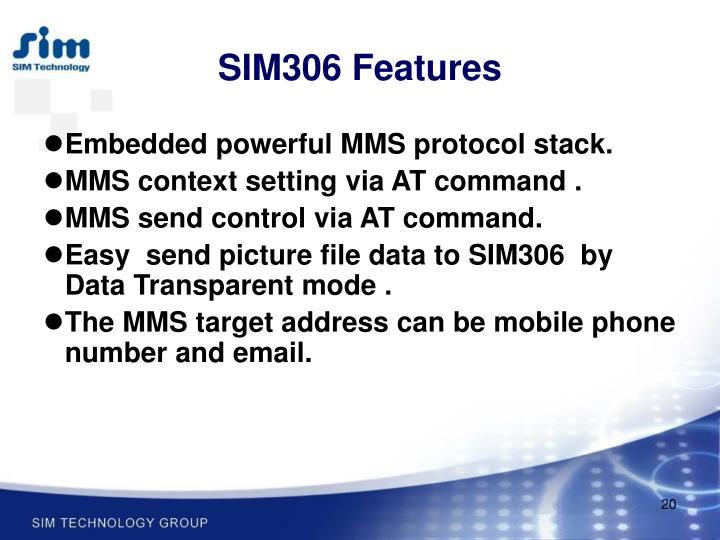 SIM306 Features