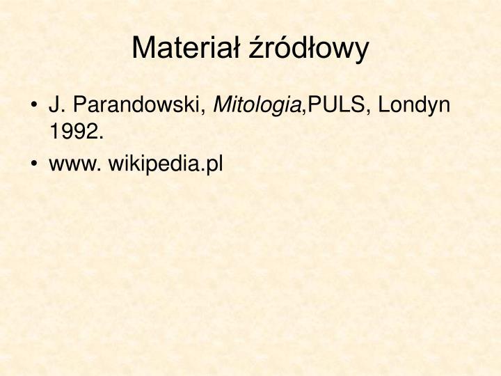 Materiał źródłowy