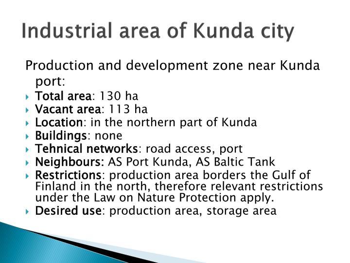 Industrial area of kunda city2