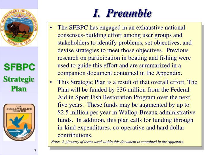 I.  Preamble