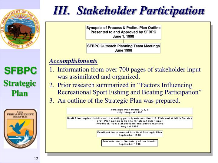 III.  Stakeholder Participation