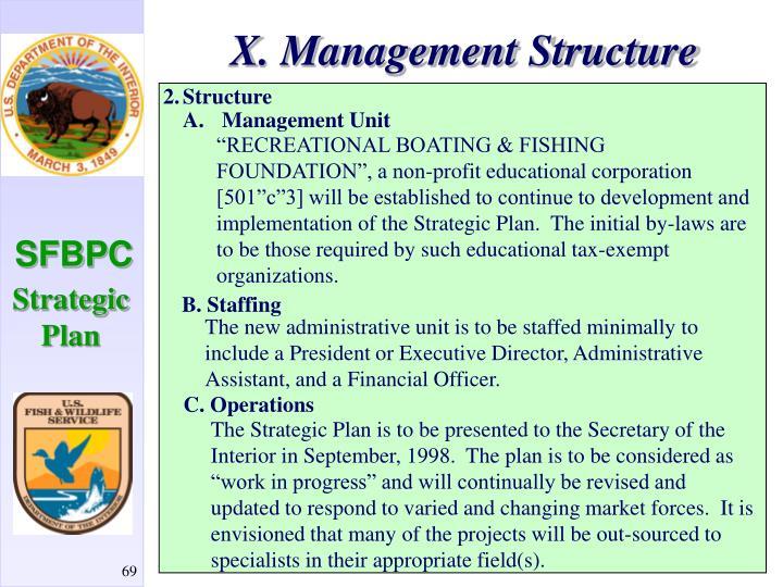 X. Management Structure