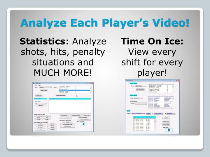 Analyze Each Player's Video!