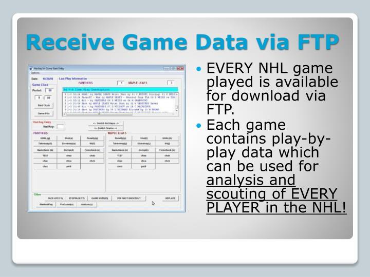 Receive Game Data via FTP