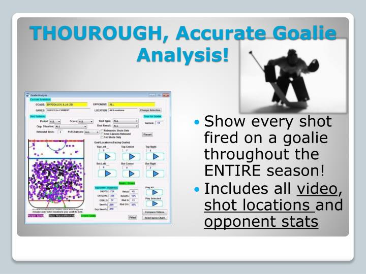 THOUROUGH, Accurate Goalie Analysis!