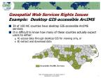 geospatial web services rights issues example desktop gis accessible arcims