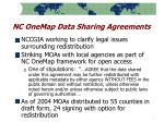 nc onemap data sharing agreements