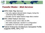 transfer modes web services