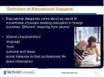 definition of educational diaspora