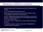 malaysians at monash in australia
