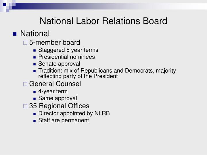 national labor relations board n.