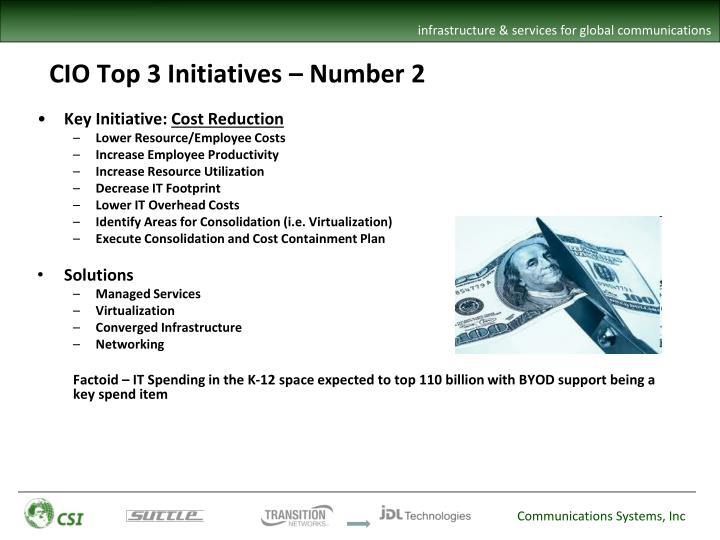 CIO Top 3 Initiatives – Number 2