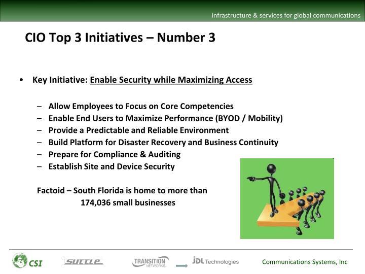 CIO Top 3 Initiatives – Number 3