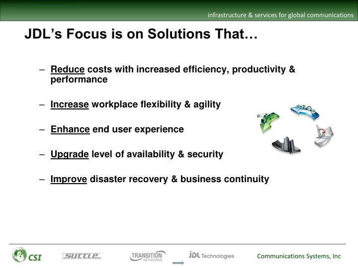JDL's Focus is on Solutions That…